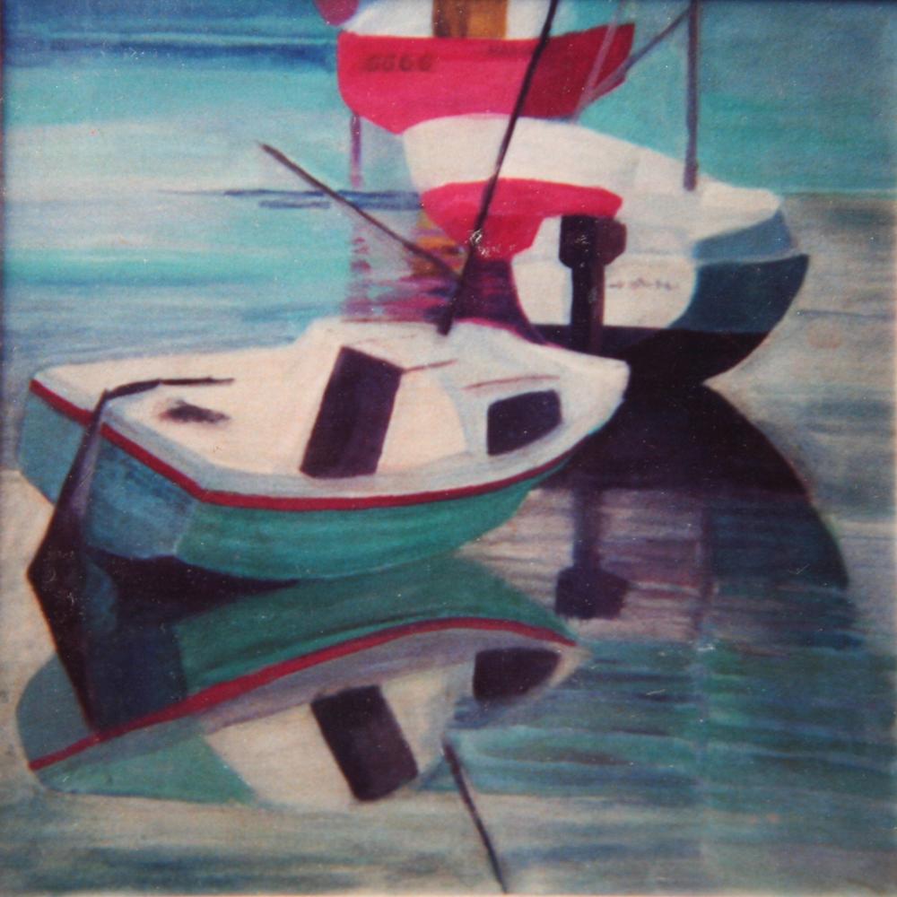 Bateaux Barfleur painting