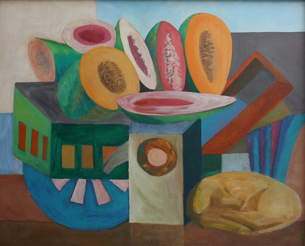 Carreta de frutas painting