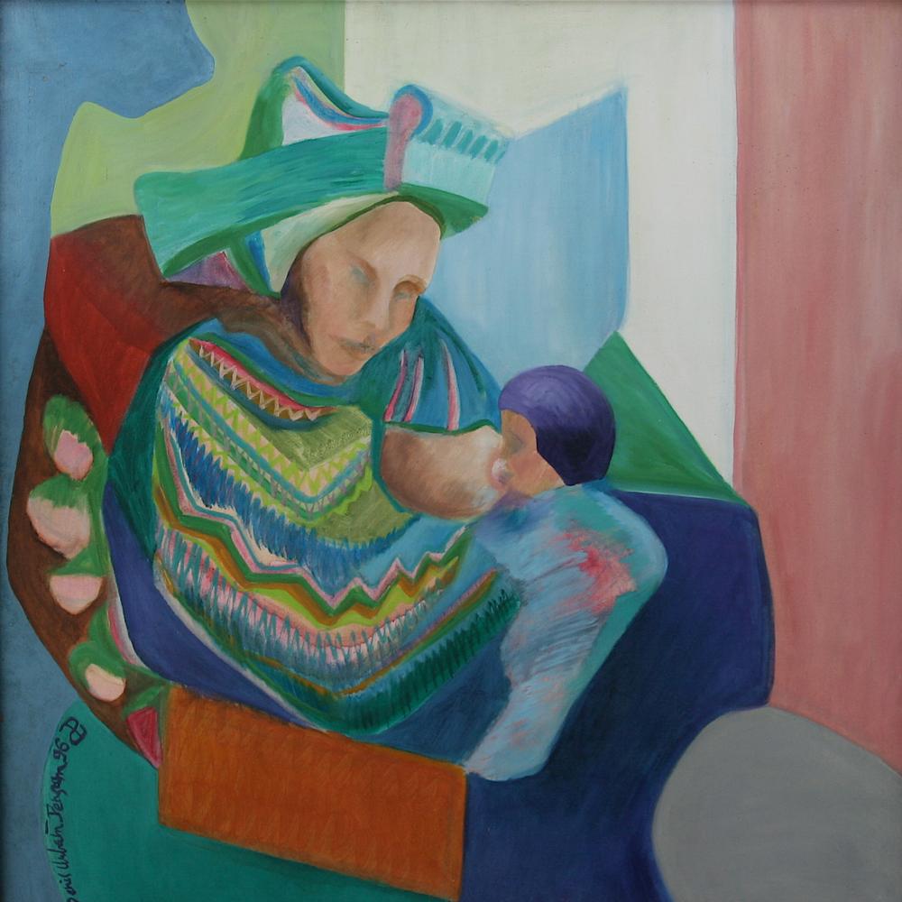Mayaflor 2 painting