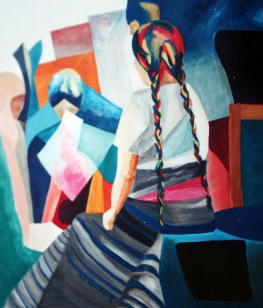 Mujer trenzada painting