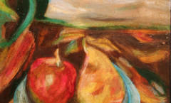 Paysage de fruits painting