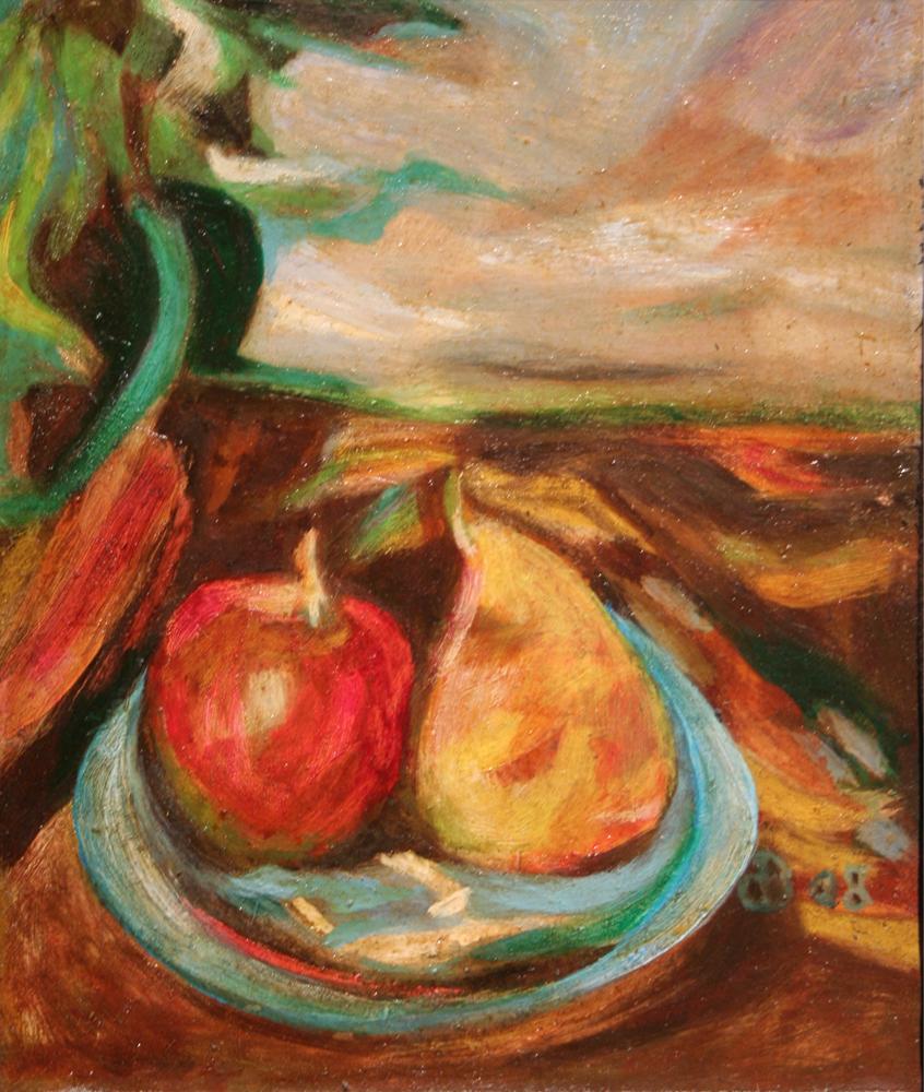 Paysage de fruits painting