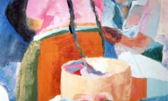 Rosa India painting